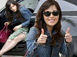 Zooey Deschanel is cautiously optimistic as she shops Saturday in Beverly Hills
