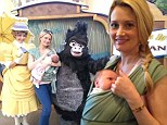 Rainbow in wonderland! Holly Madison dotes on her newborn daughter as she takes her on her first trip to Disneyland