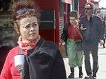 Another scruffy day: Helena Bonham Carter looked messy as she headed out in London