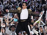 Mobbed: Psy was quite the showman as he performed for thousands of fans