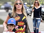 Marking her territory! LeAnn Rimes places protective hand on stepson after baseball game...while his mother Brandi Glanville cuts a lonely figure on the sidelines