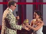 Will Ferrell getting best awarrd at the MTV Movie Awards
