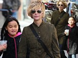 Make that two! Meg Ryan and adorable daughter Daisy True sip identical drinks during afternoon shopping trip