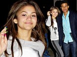 Dancing With The Stars contestant Zendaya Coleman and teen actor Trevor Jackson, both 16, dined Saturday with their parents at a Los Angeles steakhouse