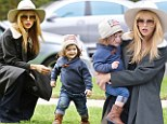 Born to run! Rachel Zoe struggles to keep up with her son Skyler as they race home through the streets of Hollywood