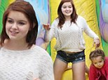 Fun with her own Modern Family: Actress Ariel Winter enjoys slides and snow cones with her sister, brother-in-law and nieces