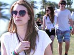 'The fun begins!' Emma Roberts bares her midriff while attending Coachella with boyfriend Evan Peters