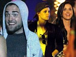 Someone's having fun! Twilight stars Robert Pattinson and Kristen Stewart have a blast as they party with Katy Perry at Coachella