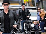 Neil Patrick Harris takes his twins out in New York City Friday with some help from a female friend