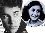 Justin Bieber writes tasteless message in the Anne Frank House guestbook that leaves Facebook and Twitter fans outraged