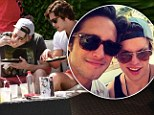 Bromance: 'Bro-chella w diegoboneta,' Chord Overstreet tweeted with a picture of the two at the Guess Hotel Pool Party held at the Viceroy Hotel in Palm Springs, California on Saturday