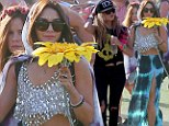 Real-life Spring Breakers Vanessa Hudgens and Ashley Benson showcase their festival style during day three of Coachella