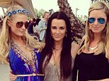 Kyle Richards hangs out with her nieces Paris and Nicky Hilton