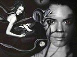 Kendall Jenner, 17, featured in artwork combining photographs and painting