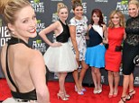 Pulling a pose: Greer Grammer at the MTV Movie Awards