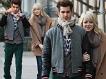 Isn't it romantic? Emma Stone squeezes in time for lovers' stroll with her Spider-Man sweetheart Andrew Garfield