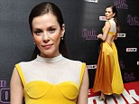 She just loves a vintage look! Anna Friel takes her style back to the 70s in mustard yellow dress for The Look of Love film premiere