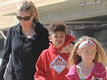 Keeping her family healthy: Heidi Klum with son Henry and daughter Leni in LA in March
