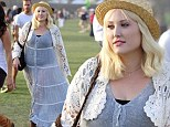 'It's okay to be voluptuous!' Hayley Hasselhoff shows off her plus-size curves in sheer maxi dress at Coachella