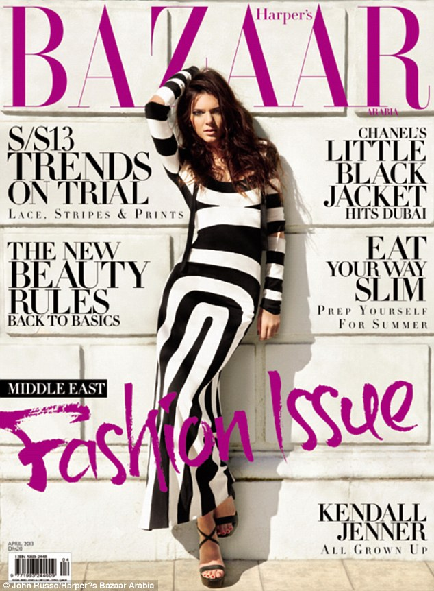 Building her resume: Kendall told Cosmo: 'Modeling is my number one priority' following another shoot with Harper's Bazaar Arabia