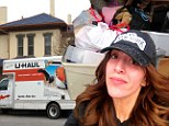 Pictured: Farrah Abraham loads up U-Haul truck with her belongings as she moves out of mother Debra's home after sex tape causes rift in the family