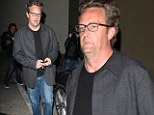 Too much of a good time with Friends? Matthew Perry looks puffy and bloated after dining out at Hollywood hotspot