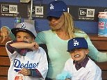 Take me out to the ballgame! Britney Spears shows support for the Dodgers as she treats her sons to a day at the baseball