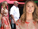Lovely lady: Stacy Kiebler looked gorgeous as she arrived on the set of Extra! at The Grove in Los Angeles, California on Wednesday