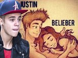 Stirring up more trouble: Justin Bieber creates controversy AGAIN as he tweets cartoon depicting himself lying in bed with a naked 'Belieber' fan