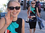 AnnaSophia Robb cuts a colourful figure in patterned dress after admitting Carrie Diaries role has made her 'care more about fashion'