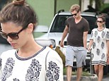 Rachel Bilson drowns her frame in baggy dress after parading her bikini body while holidaying in Barbados