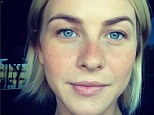 Seeing spots: Safe Haven star Julianne Hough added a set of freckles for an audition on Thursday morning