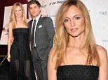 Heather Graham flashes her legs in a see-through gown as she cosies up to Zac Efron at At Any Price premiere in New York