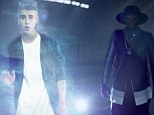 Futuristic: Justin Bieber appears as a hologram in Willi.I.am's new video for #thatPOWER
