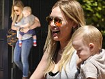 Hilary Duff stuck to her trademark style in skinny jeans