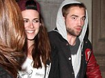 Robert Pattinson and Kristen Stewart party with pals at twilight... but keep their distance as they leave separately