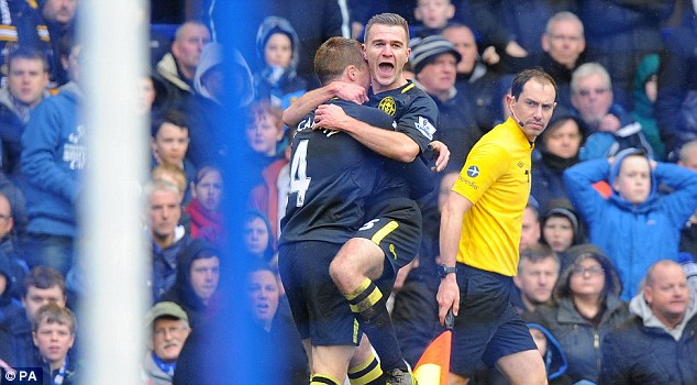 Easy does it: McManaman (right) celebrates with James McCarthy