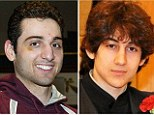 Suspects: Tamerlan Tsarnaev, 26, left, was reportedly run over by his accomplice and younger brother Dzhokhar Tsarnaev, 19