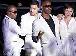 Jamie Foxx, Maggie Gyllenhaal and Channing Tatum get down on the dance floor at promotion for their new movie, White House Down
