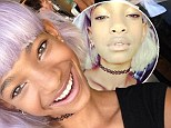 Hitting a purple patch! Willow Smith shows off lurid new hairstyle to fans on Twitter