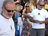 Kelsey Grammer and his wife Kayte enjoyed lunch with friends at The Ivy in Los Angeles