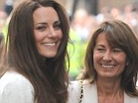 Support: The Duchess of Cambridge is set to move in with her mother Carole Middleton following the birth of her first child, and future heir to the throne of Britain