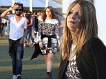 Ready to rock! Mischa Barton slips into a psychedelic print for weekend two of Coachella