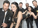 Way to get over a broken heart! Bethenny Frankel surrounds herself in hunks, snuggling up to Tyson Beckford and Maksim Chmerkovskiy