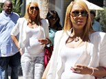 Tamar Braxton put her growing belly on display as she grabs lunch with her husband in Beverly Hills