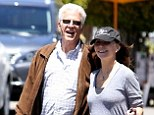 Still in Love: Ten Danson and Mary Steenburgen walk hand-in-hand with their dogs after lunch at the Brentwood Country Mart