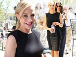 Defying age! Syfy star Julie Benz shops in a knockout little black dress that proves age is just a number