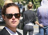 Cheeky! Smitten Rumer Willis tenderly pats actor boyfriend Jayson Blair on the bottom