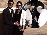 Holy moly! Ali Landry's baby bump receives hands-on blessing from Pope Francis I