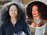 Quite the difference: Diana Ross stepped out to the grocery store makeup free in Malibu, California, on Friday